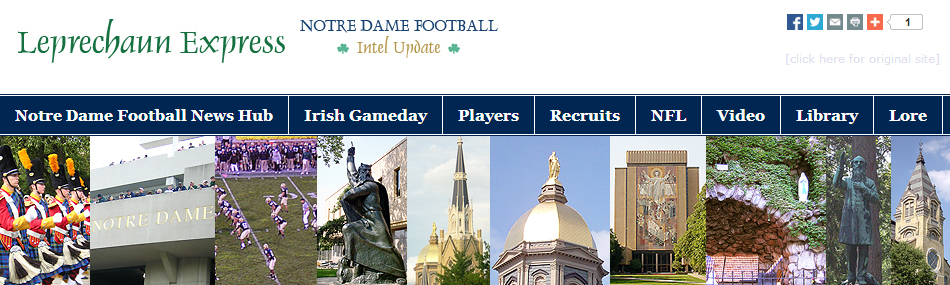 Leprechaun Express: Notre Dame Football Intell Update and Montage of Notre Dame Images
